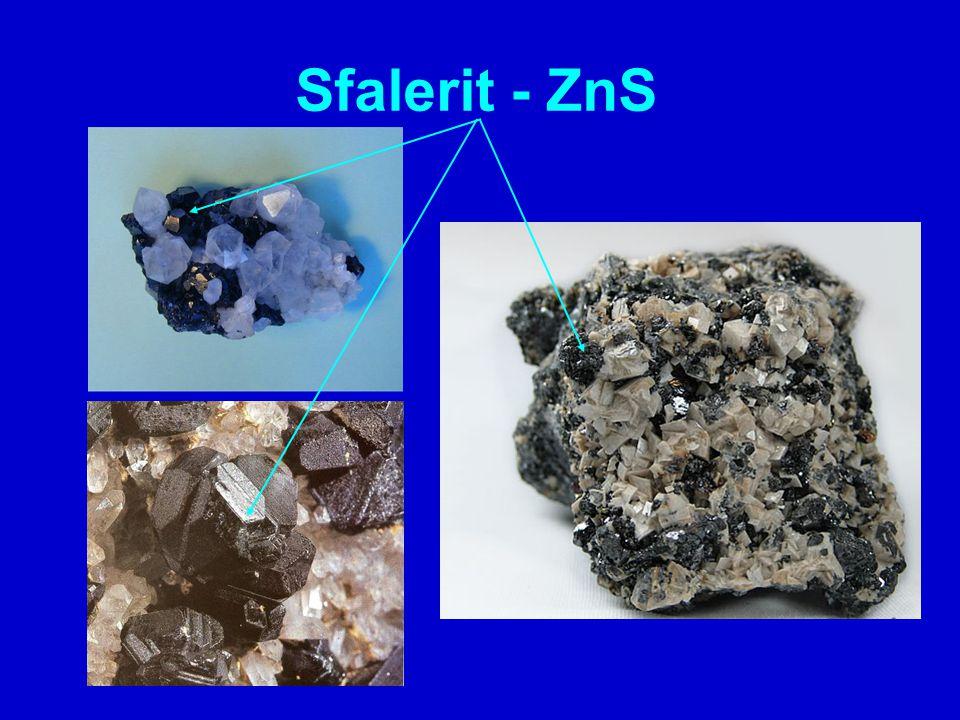 starší název je blejno zinkové různé barevné provedení, nejčastěji však tmavá často doprovází galenit nejčastější tvary krystalů: