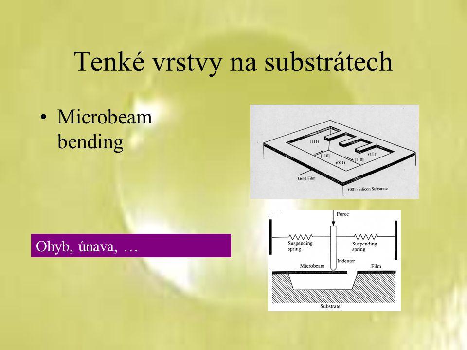Tenké vrstvy na substrátech Microbeam bending Ohyb, únava, …