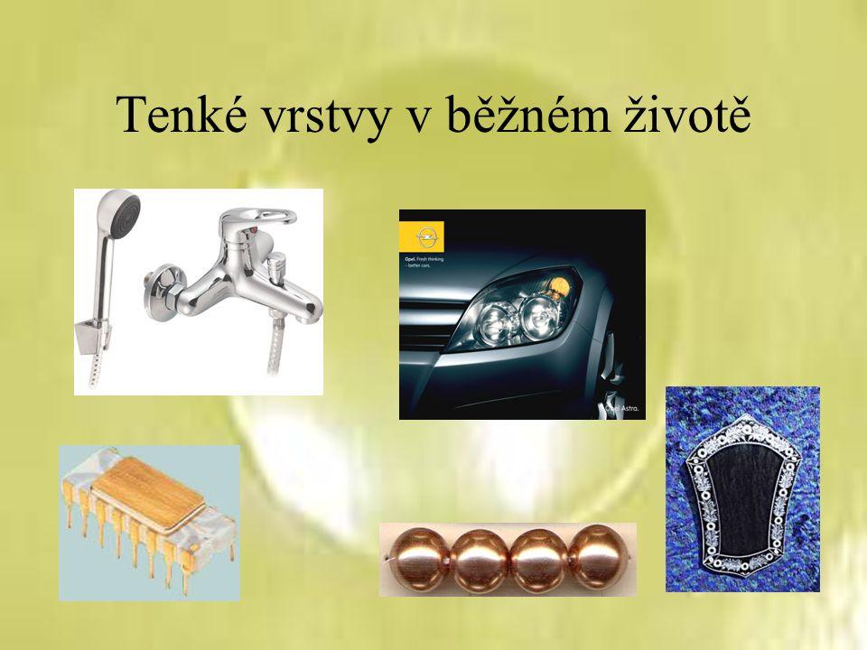 Další využití Povrchové úpravy nástrojů (DLC vrstvy, nitridy, karbidy) Katalyzátory