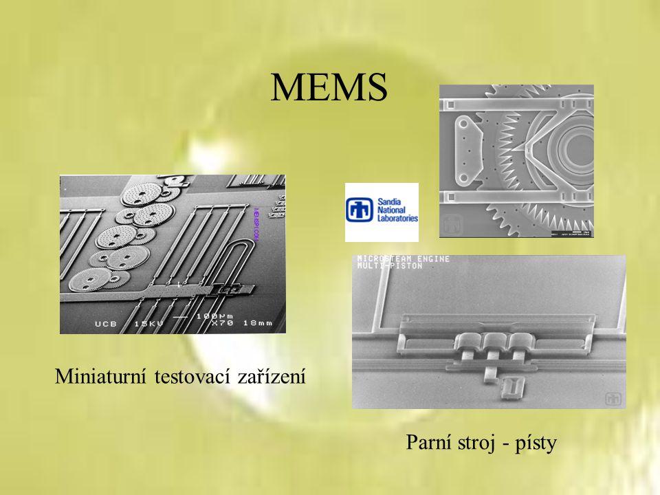 MEMS Miniaturní testovací zařízení Parní stroj - písty