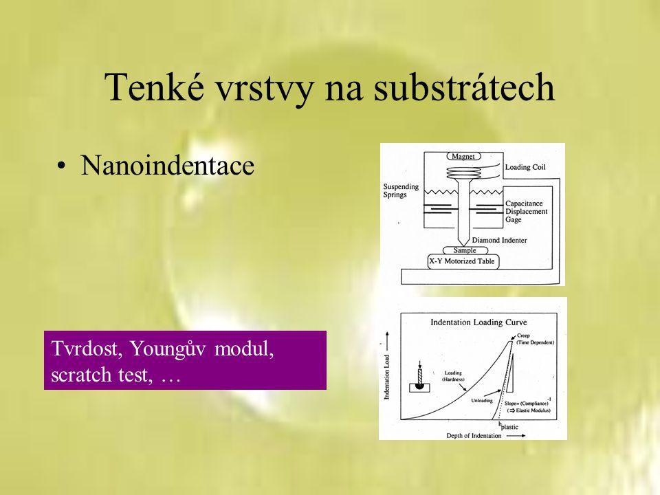 Závěr Biaxiální bulge test lze použít pro charakterizaci elastických a plastických vlastností samonosných tenkých vrstev Deformačním mechanismem při plastické deformaci slitiny Al-Zn-Mg-Cu jsou pokluzy po hranicích zrn, v případě čistého hliníku to je dislokační mechanismus řídící se Hallovým-Petchovým zákonem K určení přesných hodnot skutečných napětí a deformací v různých částech vzorku je nutno použít metody konečných prvků