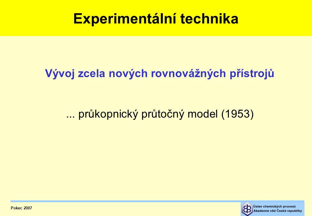 """První experimenty V r. 1953 vyšlo v Chemických Listech prvních sedm článků seriálu """"Rovnováha kapalina-pára"""" o fyzikální chemii fázových rovnováh Expe"""
