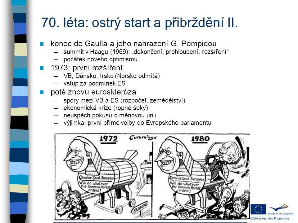 70.léta: ostrý start a přibrždění II. konec de Gaulla a jeho nahrazení G.