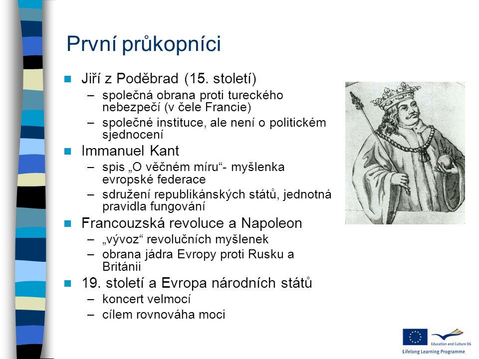 """Nejnovější události po referendech období reflexe –neví se, co dál –přemítání, co ti občané vlastně proti EU mají Berlínská deklarace (2007) –50 let římských smluv –Německo se chápe iniciativy (klíčová role vedení) Lisabonská smlouva –další kolo ústupků některým zemím, ale: –Giscard d´Estaing: """"Obsahem je to stejné jako euroústava, jen forma byla posunutá, aby nebylo nutné pořádat referenda. –přesto problematická ratifikace (dvě referenda v Irsku) nyní hlavně řešení ekonomické krize"""