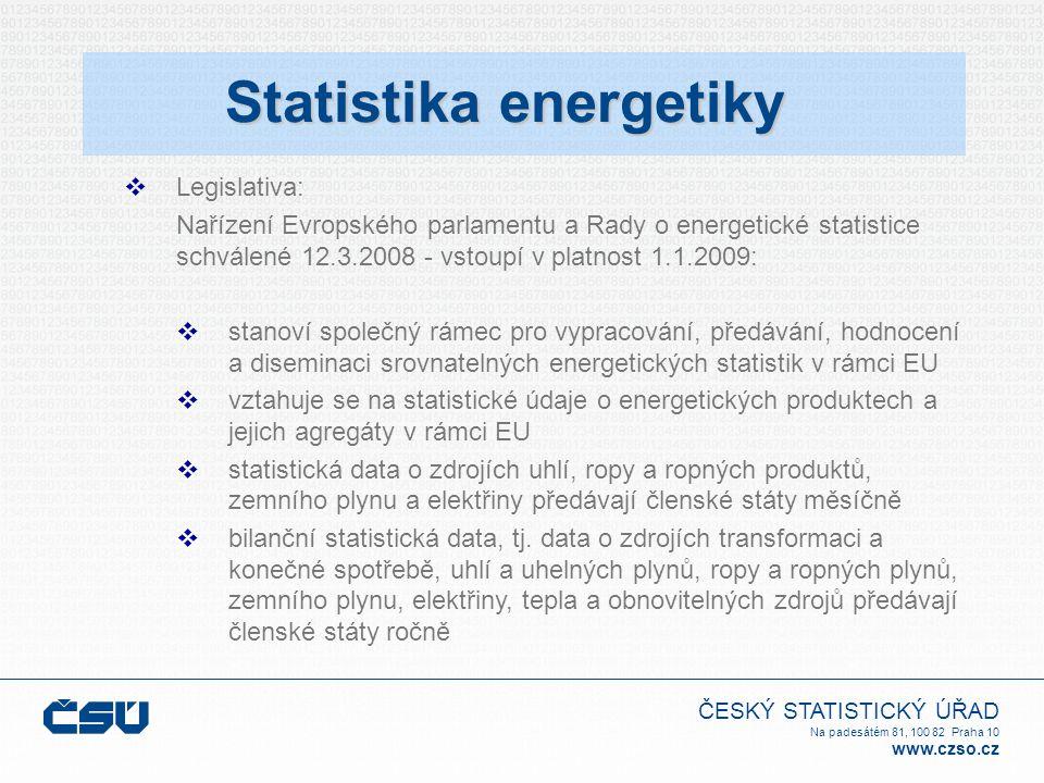 ČESKÝ STATISTICKÝ ÚŘAD Na padesátém 81, 100 82 Praha 10 www.czso.cz Prvotní energetické zdroje