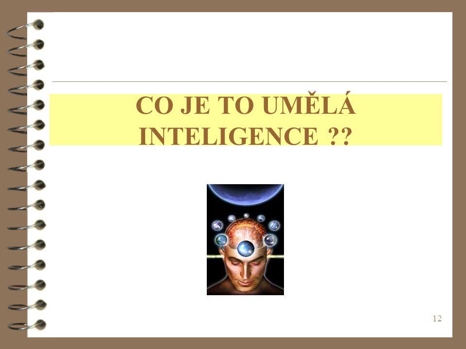 12 CO JE TO UMĚLÁ INTELIGENCE ??