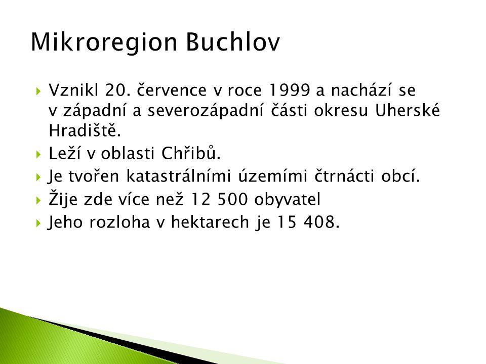  Vznikl 20. července v roce 1999 a nachází se v západní a severozápadní části okresu Uherské Hradiště.  Leží v oblasti Chřibů.  Je tvořen katastrál