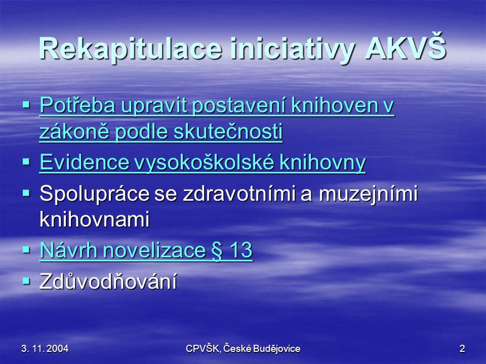 3.11. 2004CPVŠK, České Budějovice3 Usnesení celostátní porady vysokoškolských knihoven 22.-23.