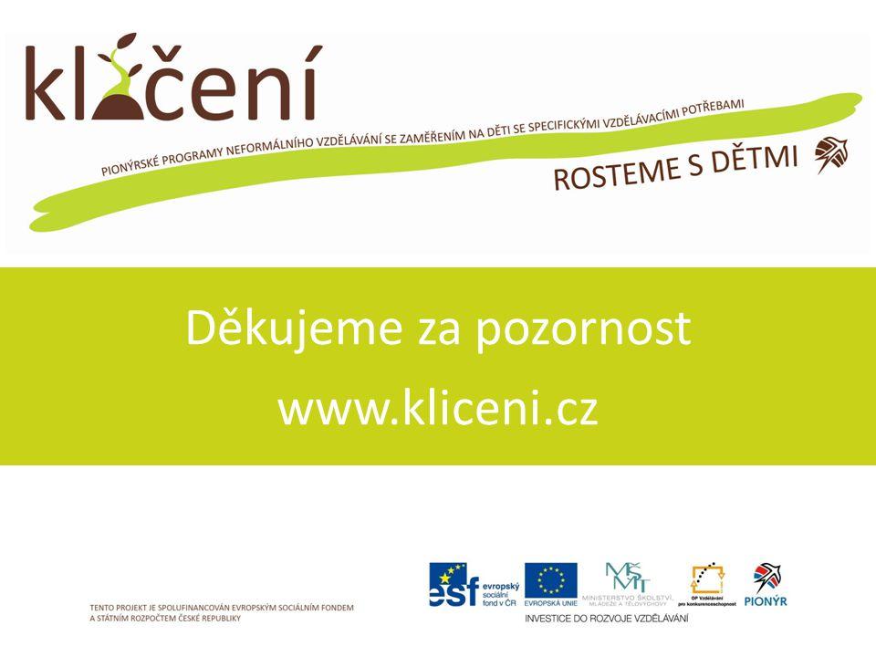 Děkujeme za pozornost www.kliceni.cz