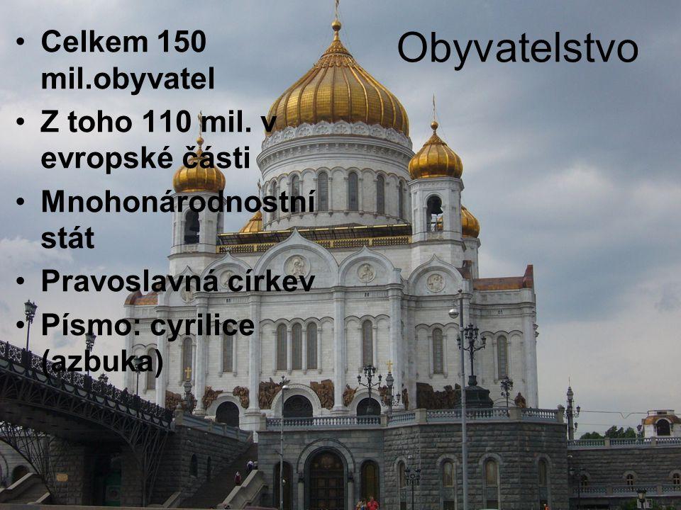 Obyvatelstvo Celkem 150 mil.obyvatel Z toho 110 mil.