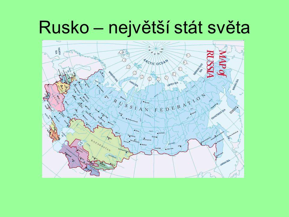 Rusko – největší stát světa