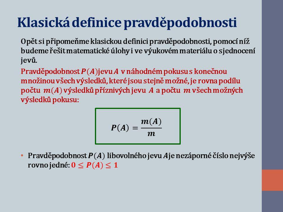 Klasická definice pravděpodobnosti