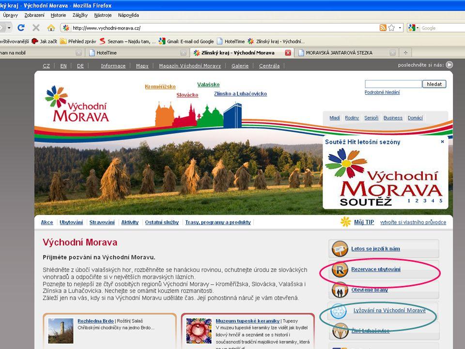 Lyžování na Východní Moravě