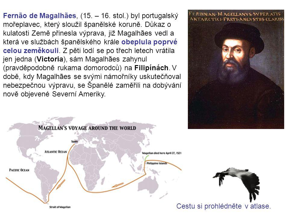 Fernão de Magalhães, (15. – 16. stol.) byl portugalský mořeplavec, který sloužil španělské koruně. Důkaz o kulatosti Země přinesla výprava, již Magalh