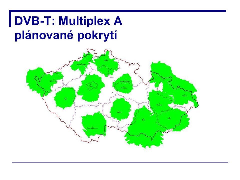 DVB-T: Multiplex A plánované pokrytí