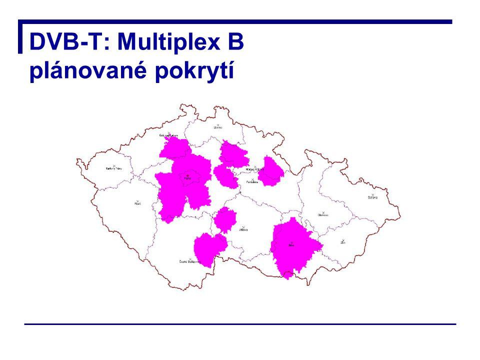 DVB-T: Multiplex B plánované pokrytí