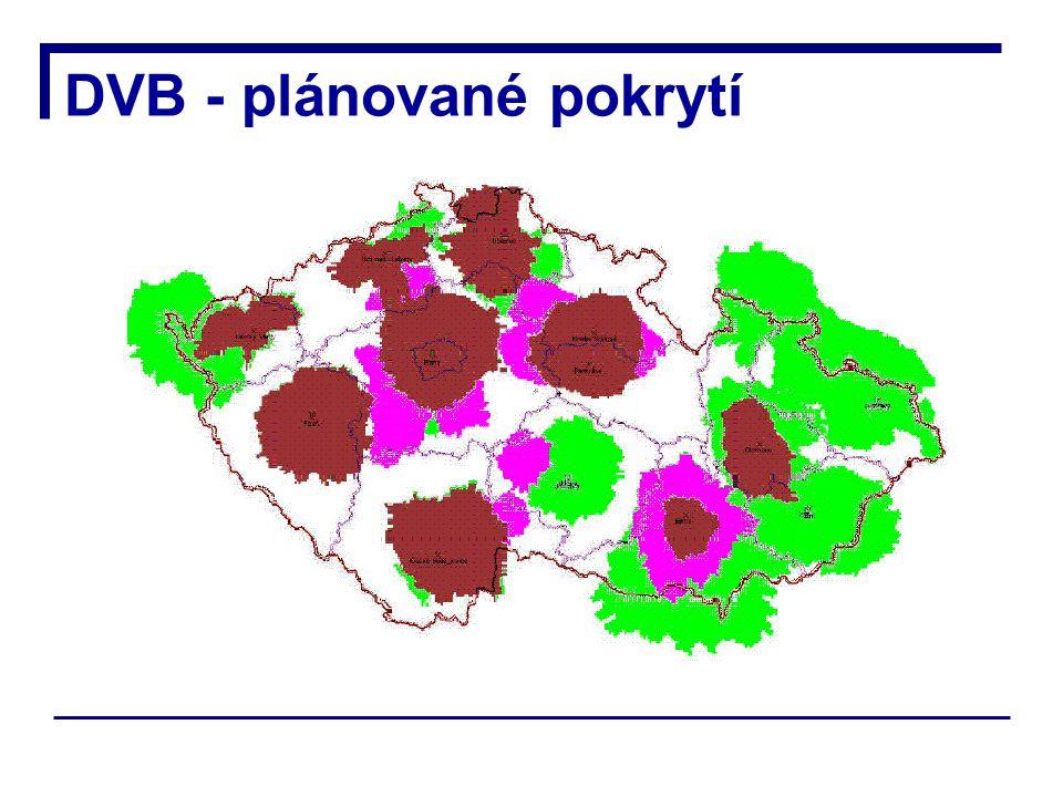 DVB - plánované pokrytí