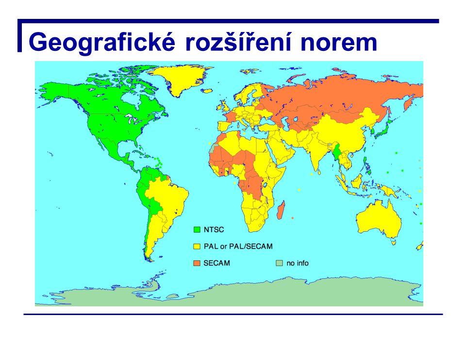 Geografické rozšíření norem
