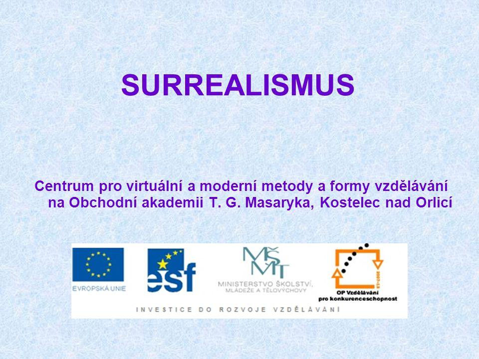 SURREALISMUS Centrum pro virtuální a moderní metody a formy vzdělávání na Obchodní akademii T.
