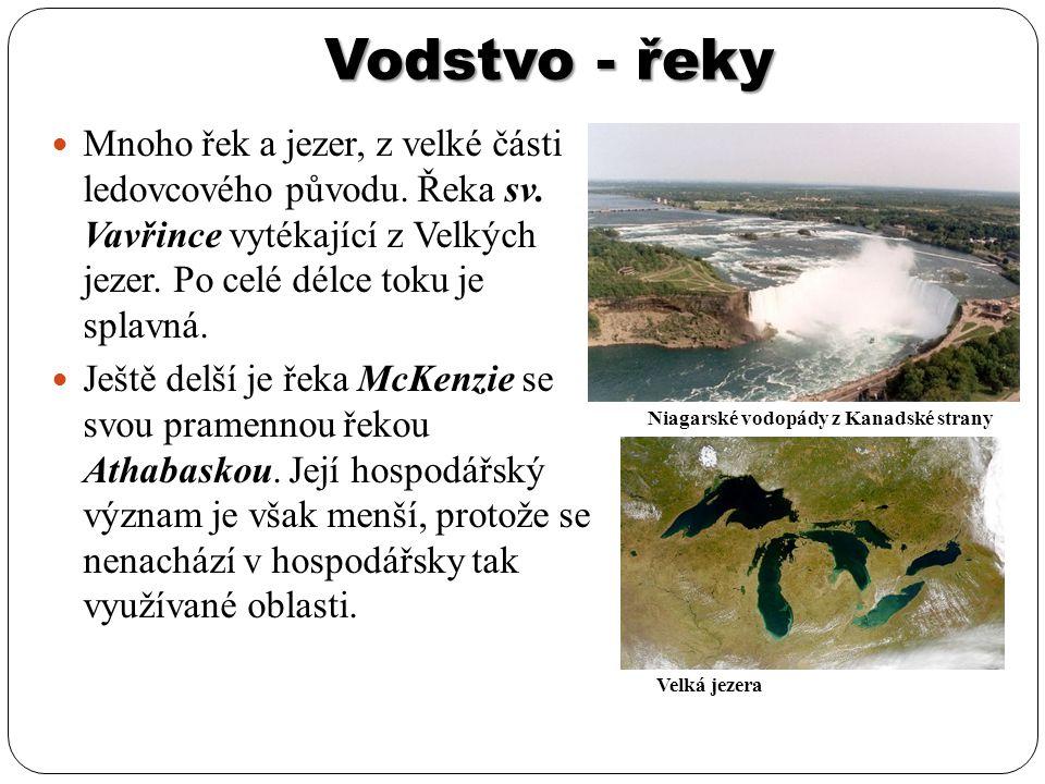 Vodstvo - jezera Oblast velkých jezer na hranici s USA: Hořejší jezero (2.