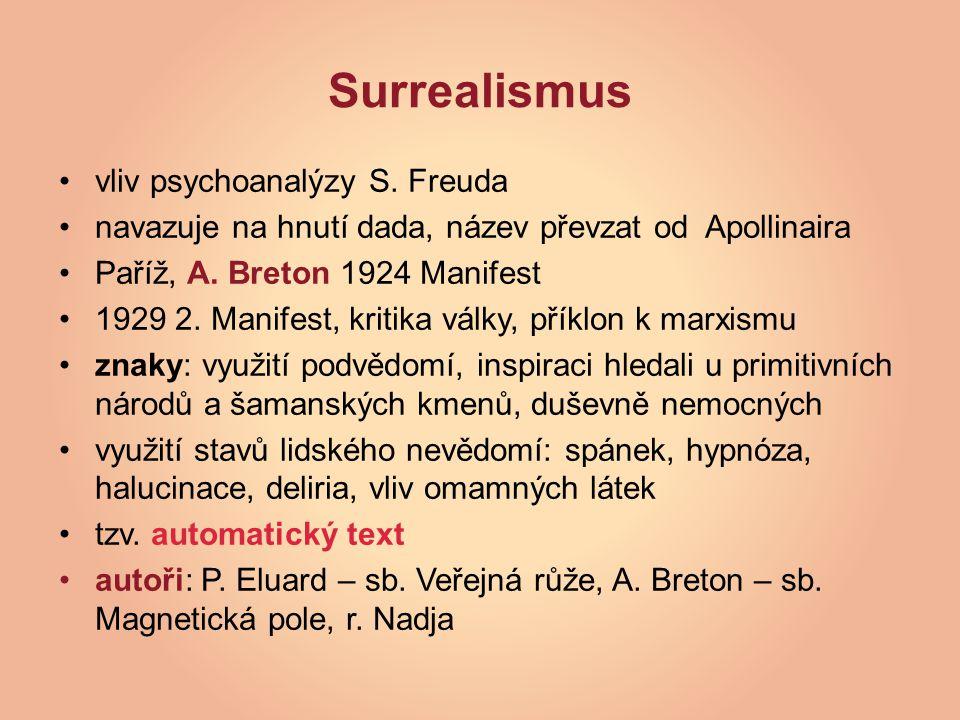 Surrealismus vliv psychoanalýzy S.