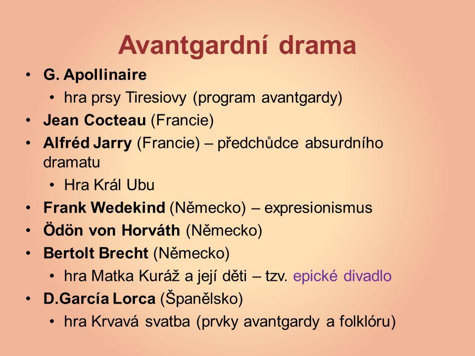 Avantgardní drama G.