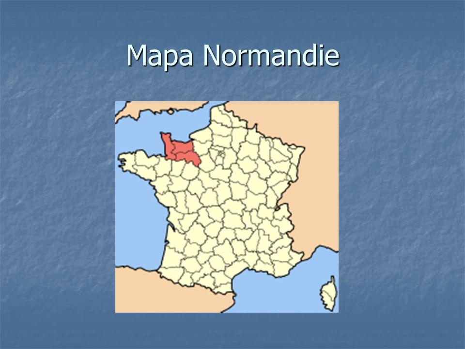 Mapa Normandie