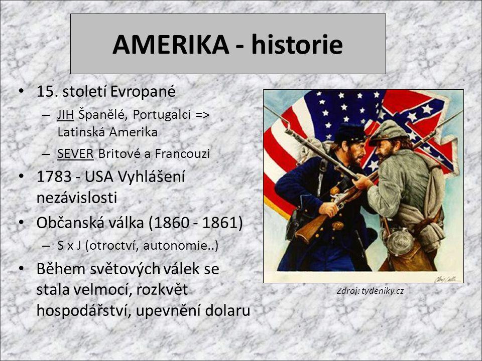 AMERIKA - historie 15.