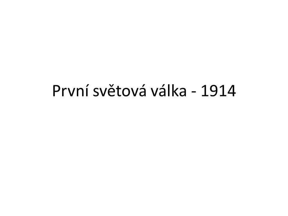 První světová válka - 1914