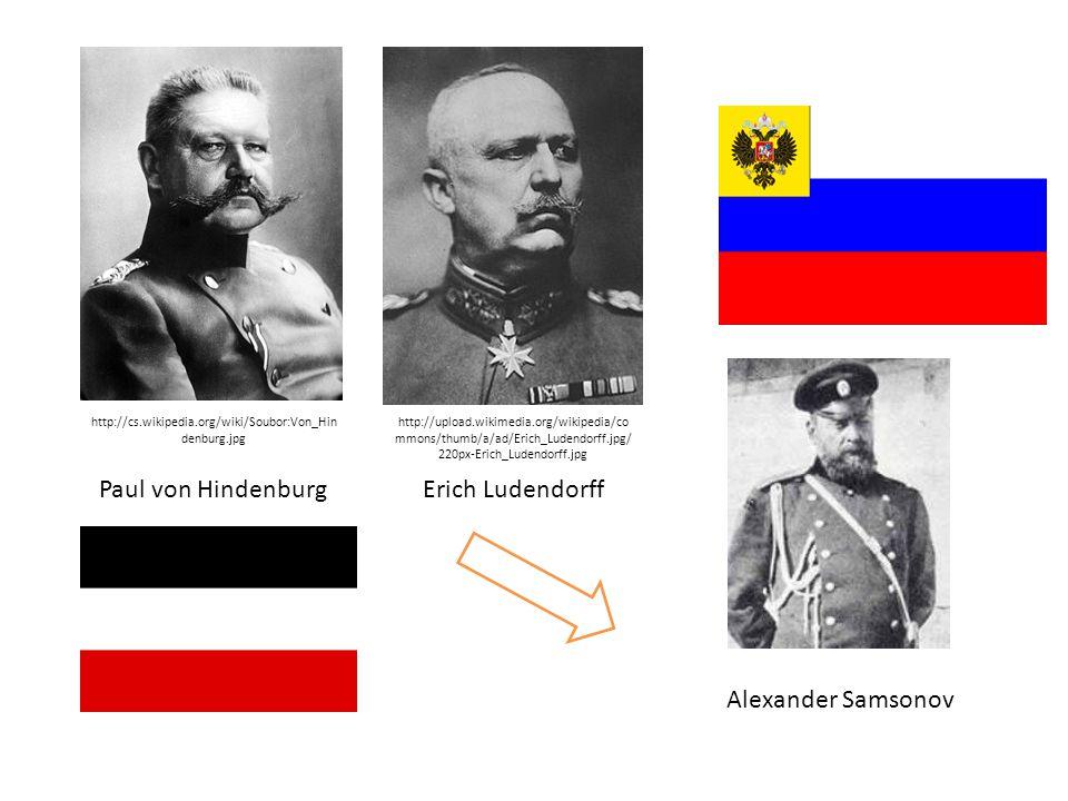 Paul von Hindenburg http://cs.wikipedia.org/wiki/Soubor:Von_Hin denburg.jpg Erich Ludendorff http://upload.wikimedia.org/wikipedia/co mmons/thumb/a/ad/Erich_Ludendorff.jpg/ 220px-Erich_Ludendorff.jpg Alexander Samsonov