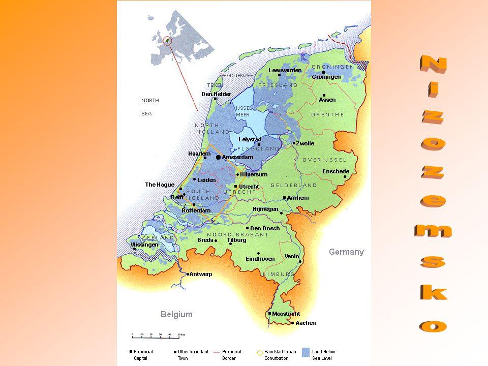 Oficiální název: Nizozemské království Rozloha: 41 526 km² Počet obyvatel:16,491,461 Hl.