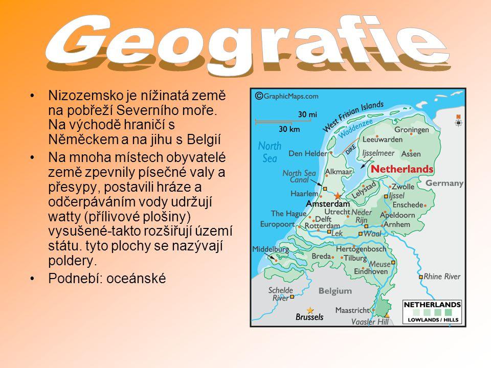 Nizozemsko je nížinatá země na pobřeží Severního moře.