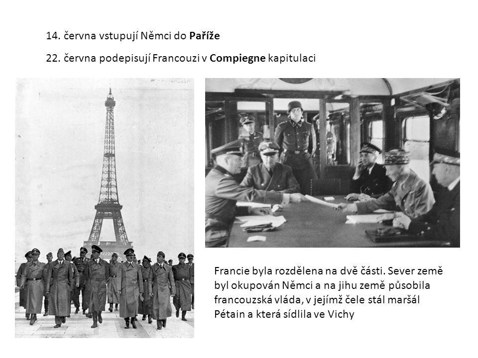 14. června vstupují Němci do Paříže 22.