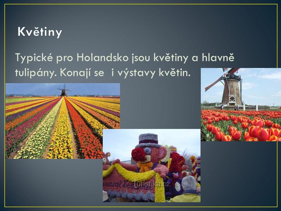 Typické pro Holandsko jsou květiny a hlavně tulipány. Konají se i výstavy květin.