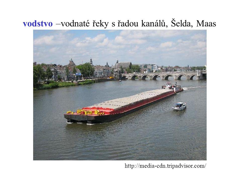 vodstvo –vodnaté řeky s řadou kanálů, Šelda, Maas http://media-cdn.tripadvisor.com/