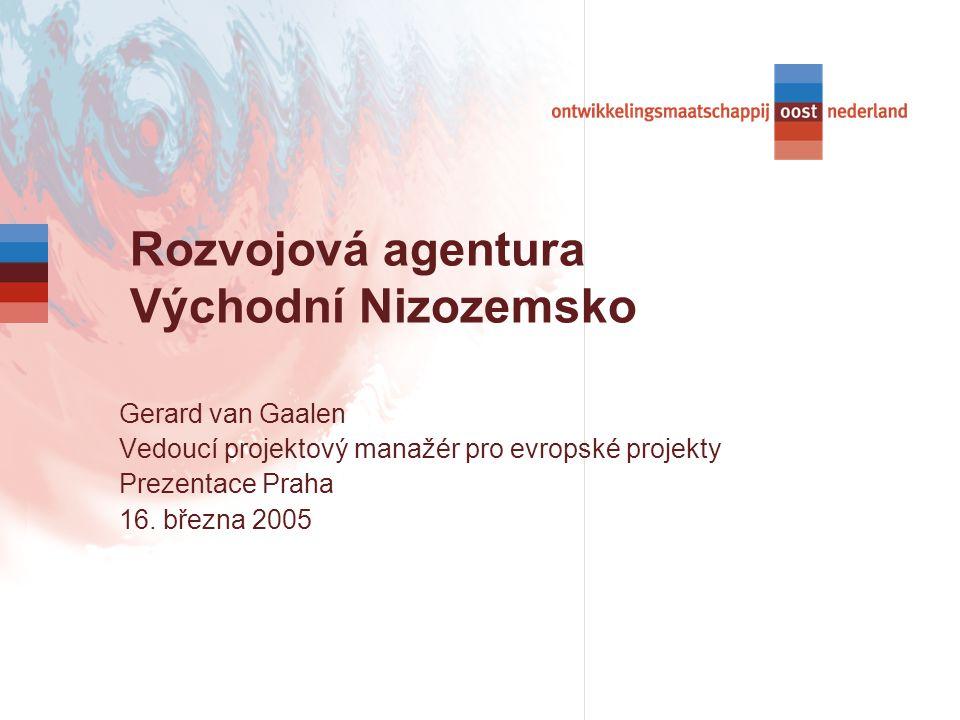 Gerard van Gaalen Vedoucí projektový manažér pro evropské projekty Prezentace Praha 16.