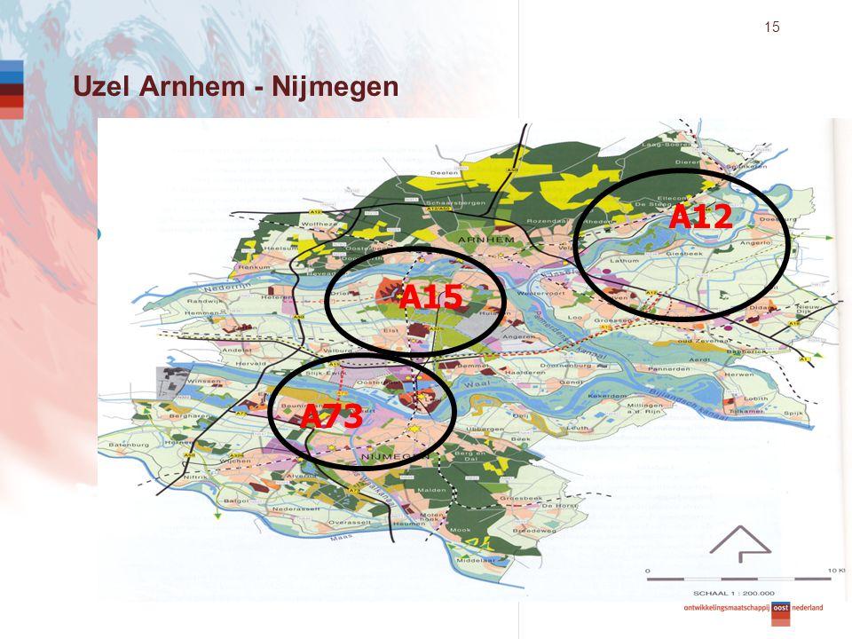 15 A12 A15 A73 Uzel Arnhem - Nijmegen
