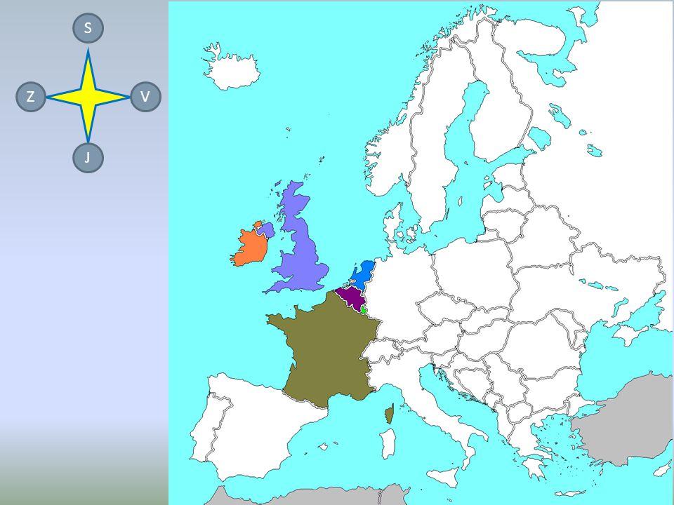 STÁTY ZÁPADNÍ EVROPY JSOU: FRANCIE VELKÁ BRITÁNIE NIZOZEMSKO BELGIE IRSKO LUCEMBURSKO