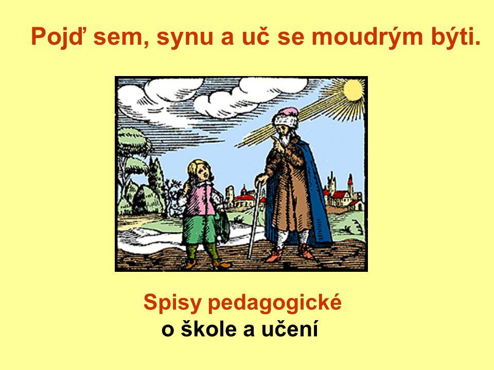 Pojď sem, synu a uč se moudrým býti. Spisy pedagogické o škole a učení