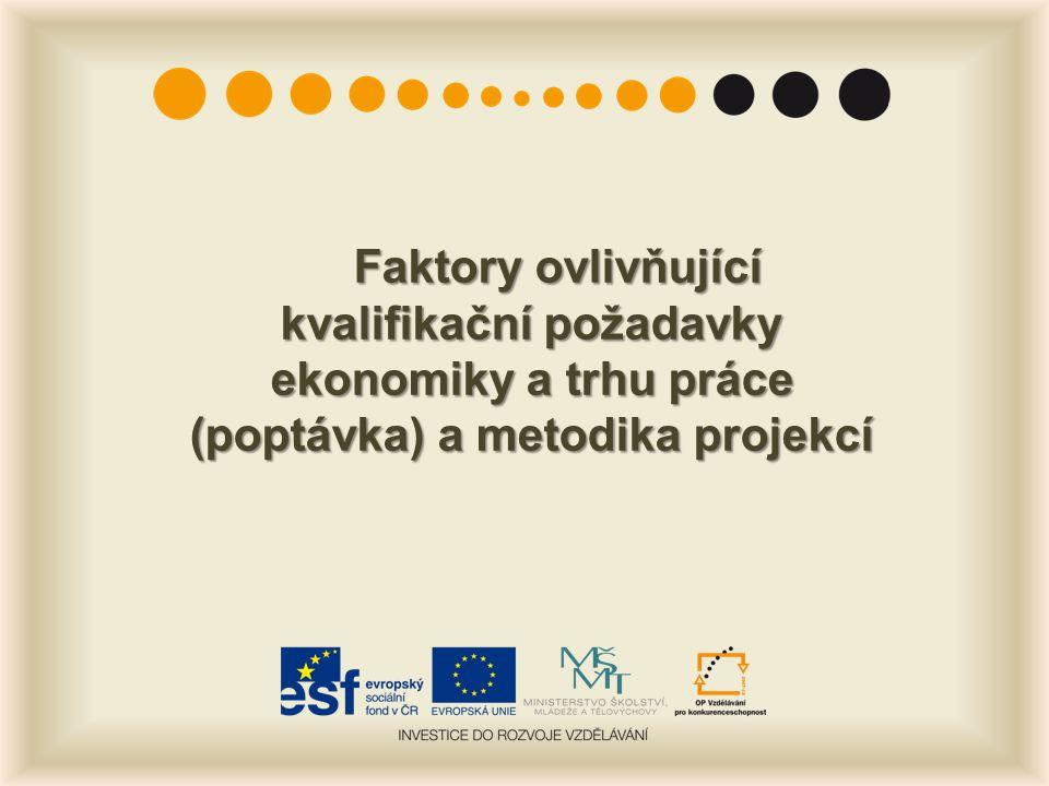 Faktory ovlivňující kvalifikační požadavky ekonomiky a trhu práce (poptávka) a metodika projekcí