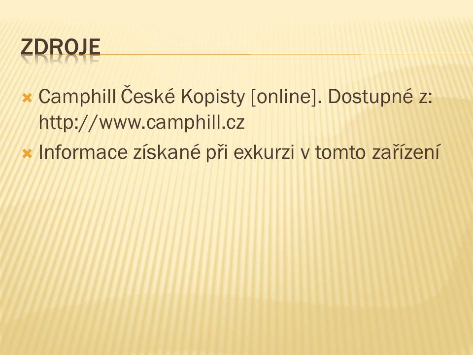  Camphill České Kopisty [online]. Dostupné z: http://www.camphill.cz  Informace získané při exkurzi v tomto zařízení
