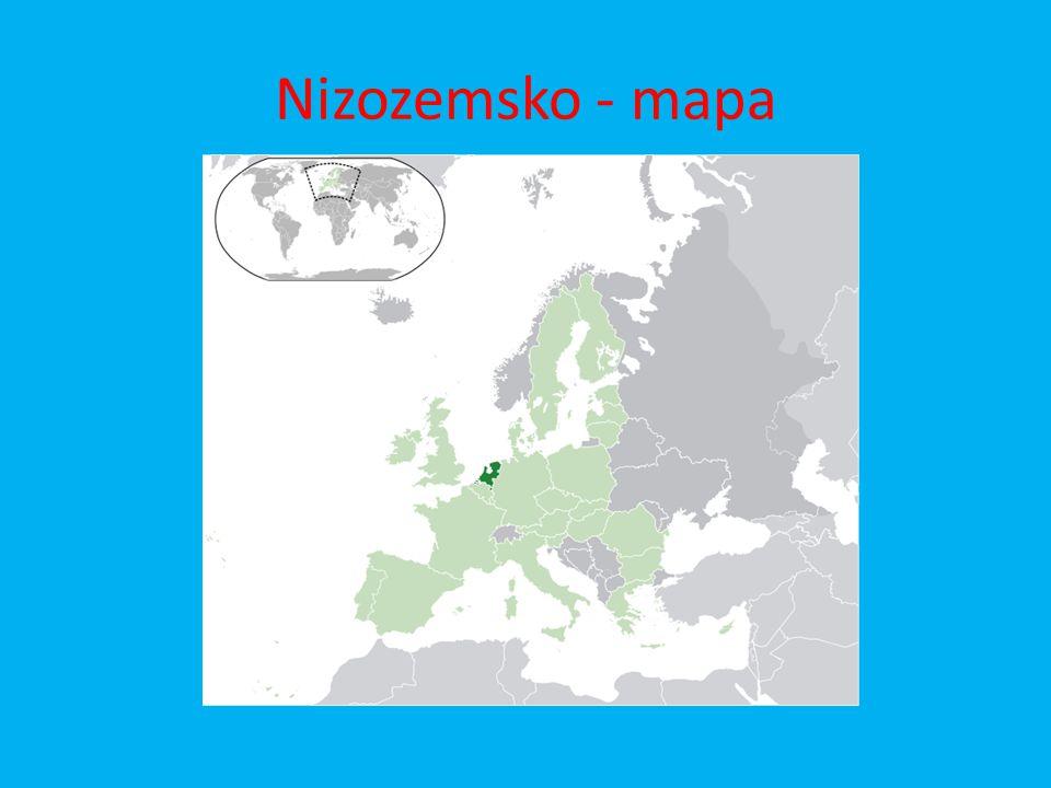 Nizozemsko - mapa
