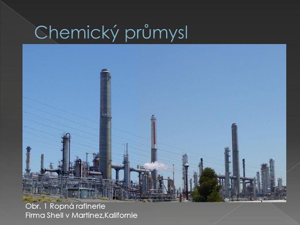Obr. 1 Ropná rafinerie Firma Shell v Martinez,Kalifornie