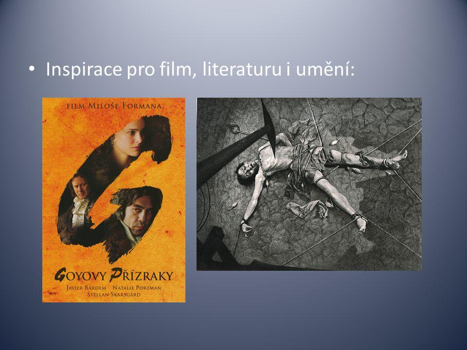 Inspirace pro film, literaturu i umění:
