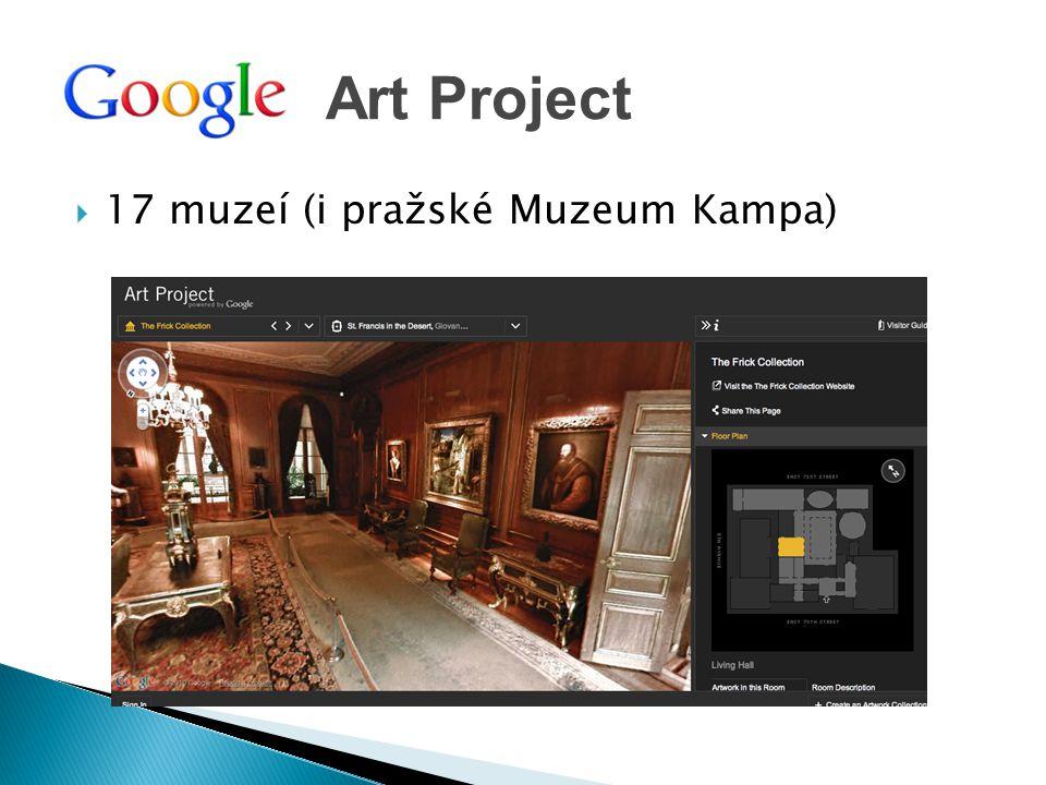  17 muzeí (i pražské Muzeum Kampa) Art Project