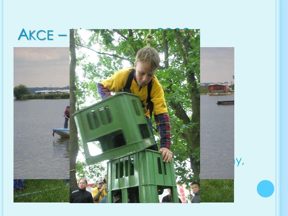 A KCE – N AVIGAMUS 2009 Navigamus – celostání setkání vodní skautů u vodní nádrže Rozkoš Byli tam taky skauti z Polska, Slovenska, Ukrajiny a Nizozems