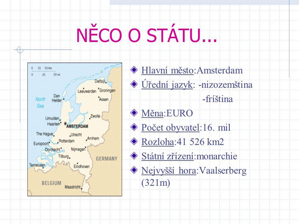 ÚVOD Nizozemsko nebo-li Holandsko, je jednou ze tří zemí Nizozemského království ležící v severozápadní Evropě. Je jednou z nejhustěji osídlených zemí