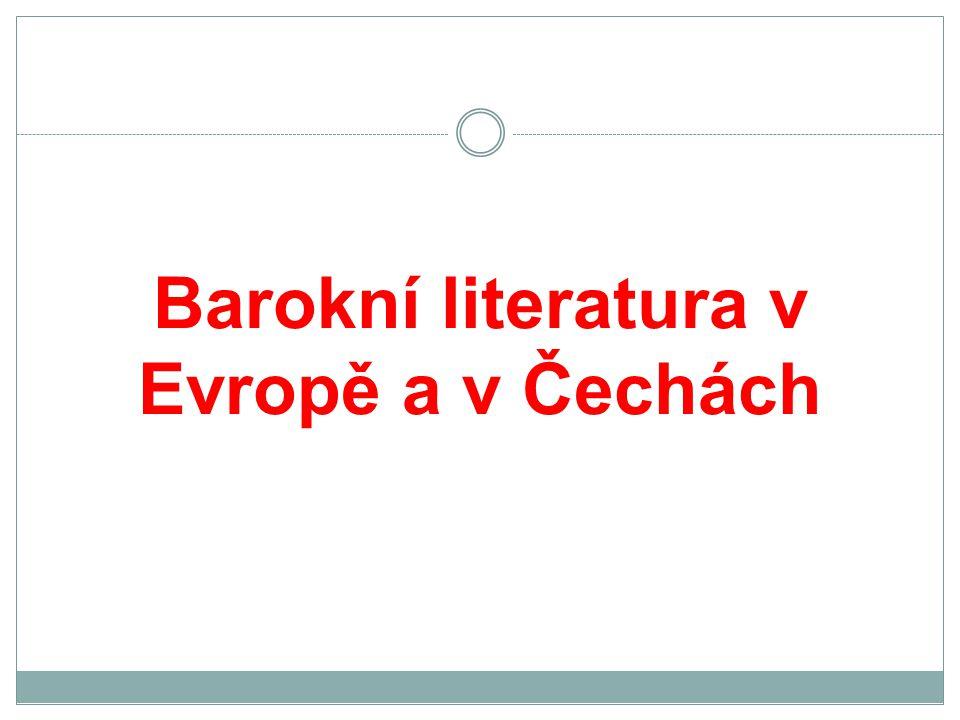 Barokní literatura v Evropě a v Čechách