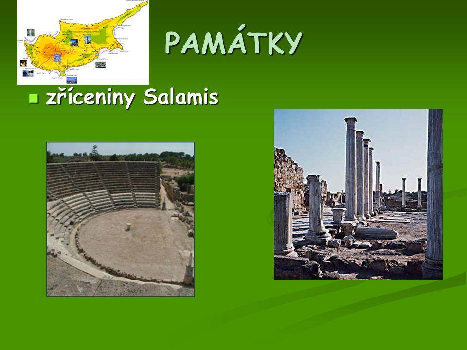 PAMÁTKY zříceniny Salamis zříceniny Salamis