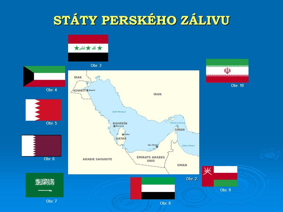  Perský záliv omývá osm států. Írán (obr. 11), Irák (obr.
